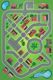 PVC KIDS  Simple City Play Mat 100 150
