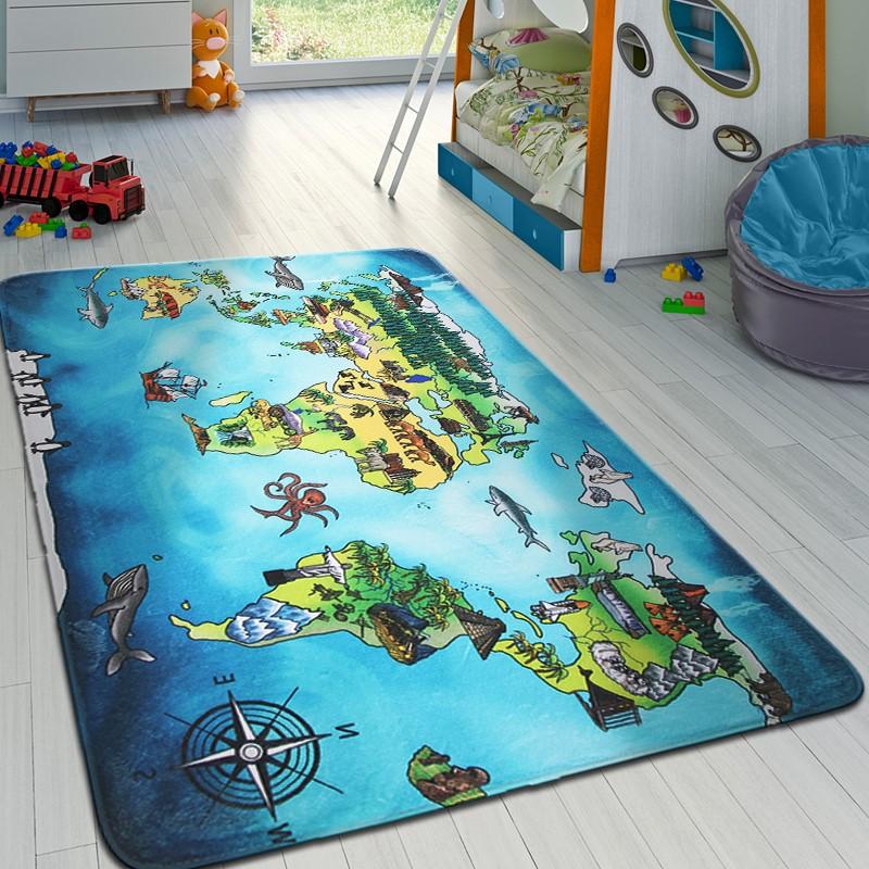 Dětský koberec WORLD MAP